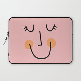 Winky Smiley Face in Pink Laptop Sleeve