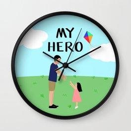 Always My Hero Wall Clock