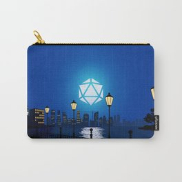 Cityscape Night Light D20 Dice Full Moon Tabletop RPG Landscapes Carry-All Pouch