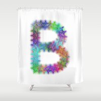 letter Shower Curtains featuring Letter B by David Zydd