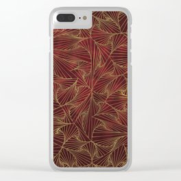 Tangles Red and Gold Clear iPhone Case