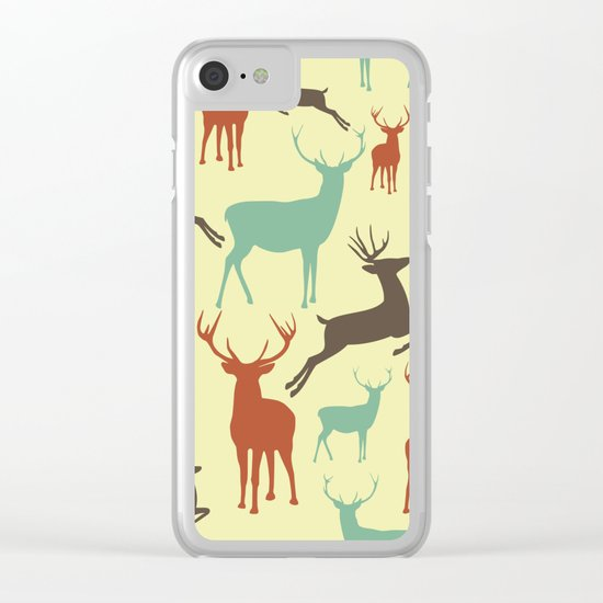 Reindeers Clear iPhone Case