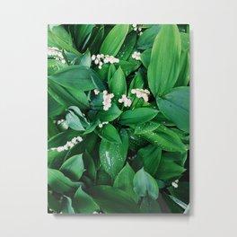 Summer Leaf & Floral Metal Print