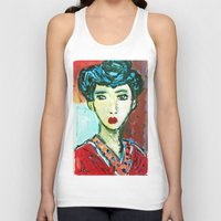 matisse Tank Tops featuring LADY MATISSE IN TEEN YEARS by JANUARY FROST