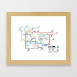 Bangalore Food Map Framed Art Print