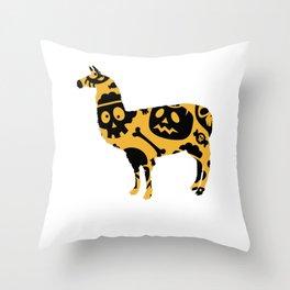 Halloweeen llamam Throw Pillow