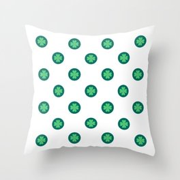 Saint Patrick Shamrock Clove Seamless Throw Pillow