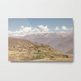 Colca canyon in Arequipa Peru Metal Print