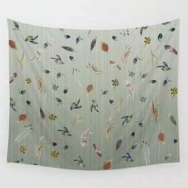 Watercolor Autumn Leaf Cascade Wall Tapestry