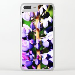 Lupine close up Clear iPhone Case