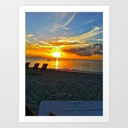 Beach Sun Set  Art Print
