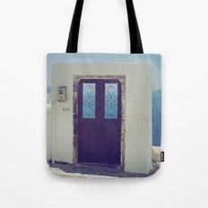 Santorini Door V Tote Bag