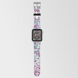 Blue Fresh Florals Apple Watch Band