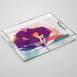 alstroemeria 2 Acrylic Tray