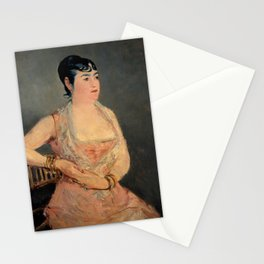 Edouard Manet - Lady in Pink Stationery Cards