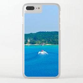 Cruising to New Caledonia Clear iPhone Case