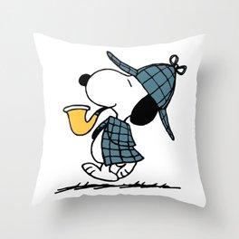 snoopy happy newyear Throw Pillow