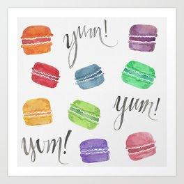 Yum! Macarons Art Print