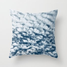 Cotton Candy Clouds Breathtaking Big Sky Photo Throw Pillow
