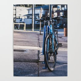 Blue Bycicle Poster