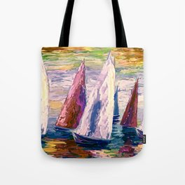 Wind on Sails by Lena Owens/OLena Art Tote Bag