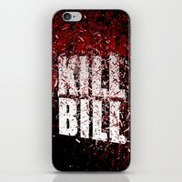 kill bill iPhone & iPod Skins featuring KILL BILL blood by Osman SARGIN