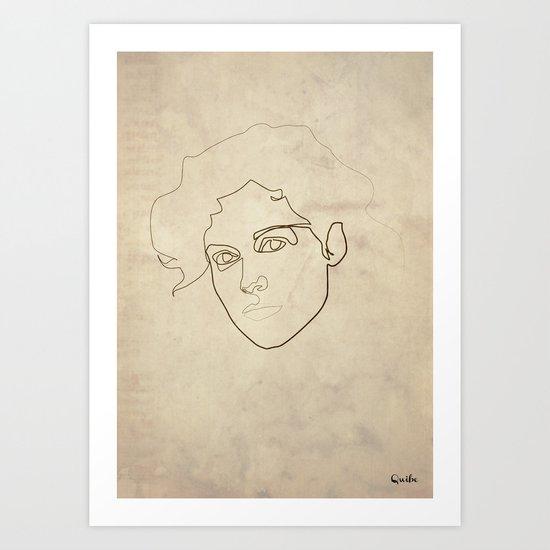 One Line Ellen Ripley Art Print