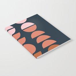 Modern Desert Color Shapes Notebook