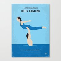 dirty dancing Canvas Prints featuring No298 My Dirty Dancing minimal movie poster by Chungkong