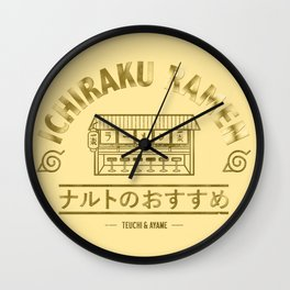Ichiraku Ramen Wall Clock