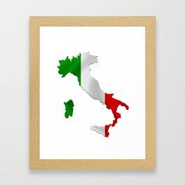 Map of Italy Framed Art Print