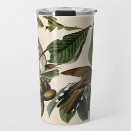 Yellow-billed Cuckoo, Birds of America by John James Audubon Travel Mug