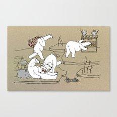 I wish i was a polar bear Canvas Print