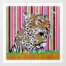 Tiger & His Technicolour Coat Art Print