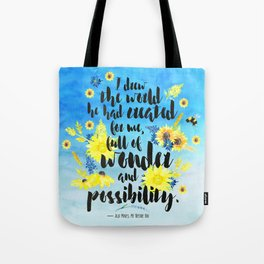 Me Before You - Wonder and Possibility Tote Bag