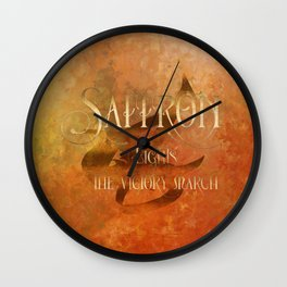 SAFFRON lights the victory march. Shadowhunter Children's Rhyme. Wall Clock