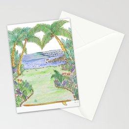Costa Rica Surf Art Pan Dulce  Stationery Cards