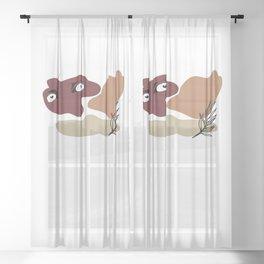 Antique Feeling #8 Sheer Curtain