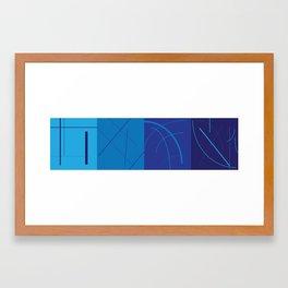 Lineweight Framed Art Print
