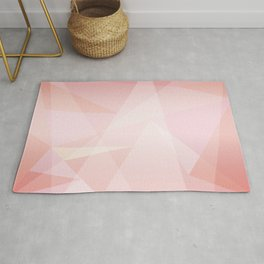 Abstract polygonal landscape Rug