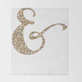 Glitter Ampersand Throw Blanket