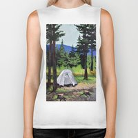 camp Biker Tanks featuring Camp by Kira Yustak
