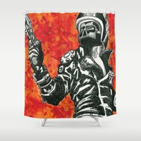 mad max Shower Curtains featuring Mad Max  by Abominable Ink by Fazooli
