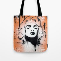 SF Giants x Marilyn Monroe by Adam Valentino  Tote Bag