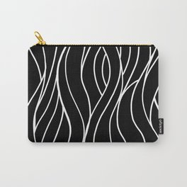Long Wavy Streams - Black Carry-All Pouch