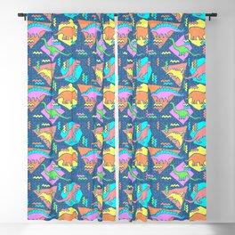 Nineties Dinosaur Pattern Blackout Curtain