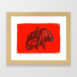 LA Wall Climber Framed Art Print