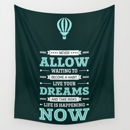 Lab No. 4 Live Your Dreams Life Inspirational Quote Wall Tapestry