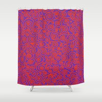 friday Shower Curtains featuring Friday by Bunyip Designs