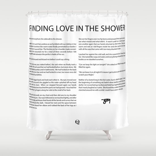 Finding Love in the Shower Shower Curtain